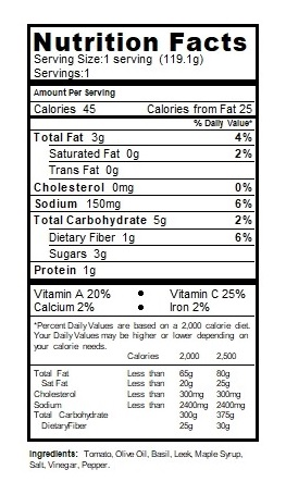 oat crackers nutritional table