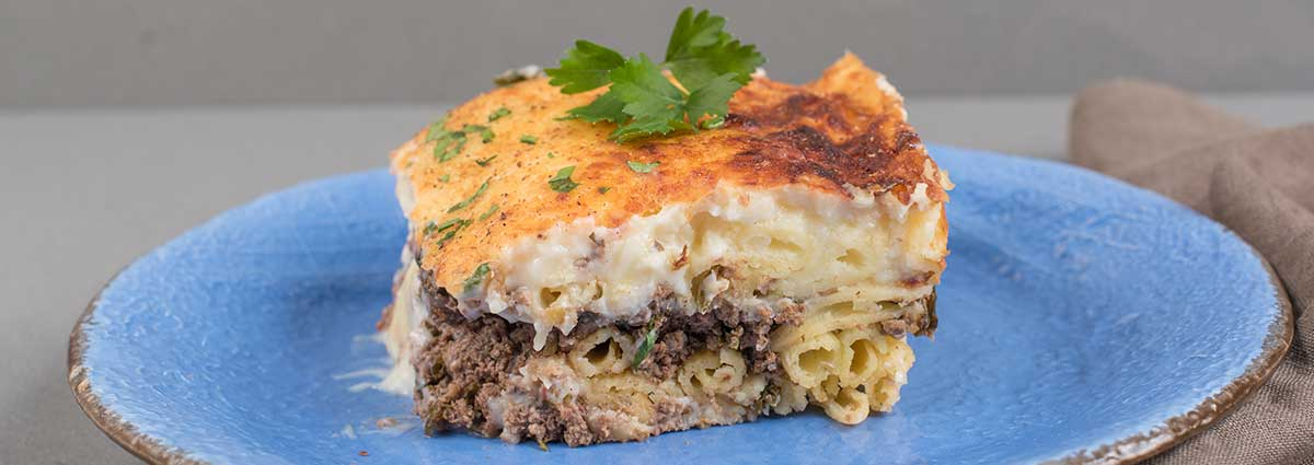 Pasticio (Baked Greek Pasta with Meat Sauce)