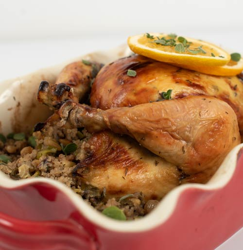 Stuffed Gluten-Free Holiday Chicken