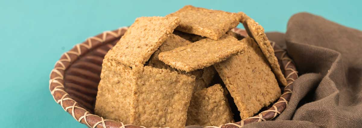 Rosemary Chia Oat Crackers